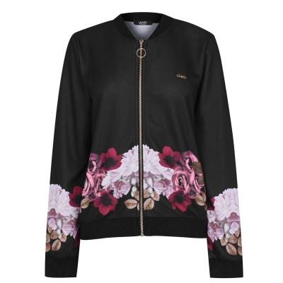 Jacheta Liu Jo Floral Bomber negru
