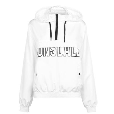 Jacheta Lonsdale fermoar ploaie pentru Femei alb