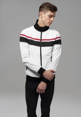 Jacheta nailon trei culori alb-negru Urban Classics rosu