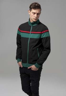 Jacheta nailon trei culori negru-verde Urban Classics rosu