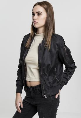 Jacheta nailon Twill Bomber pentru Femei negru-negru Urban Classics