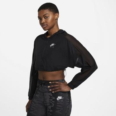 Jacheta Nike Air Crop alergare pentru femei negru