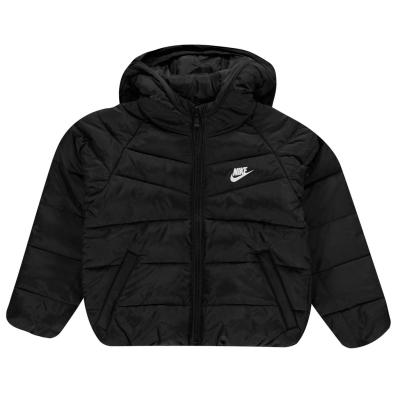 Jacheta Nike cu gluga pentru baieti negru