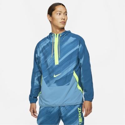 Jacheta Nike Dri-FIT Sport Clash Woven cu gluga antrenament pentru Barbati albastru