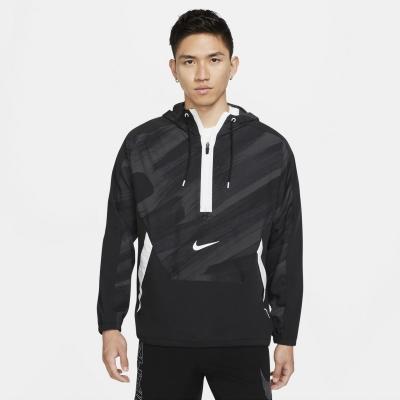 Jacheta Nike Dri-FIT Sport Clash Woven cu gluga antrenament pentru Barbati negru