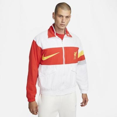 Jacheta Nike Liverpool Woven pentru Barbati alb rushred