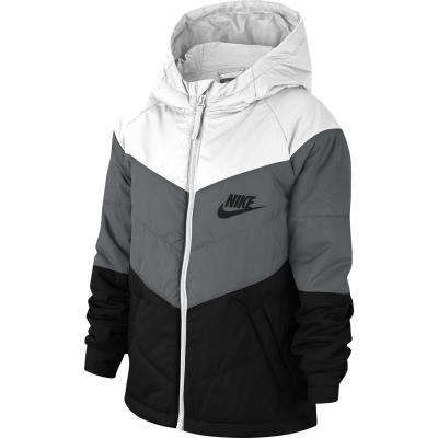 Jacheta Nike NSW Filled pentru baietei gri negru alb