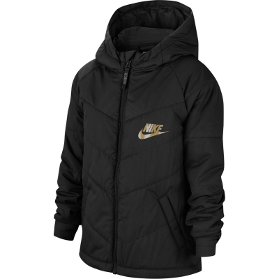 Jacheta Nike NSW Filled pentru baietei negru auriu