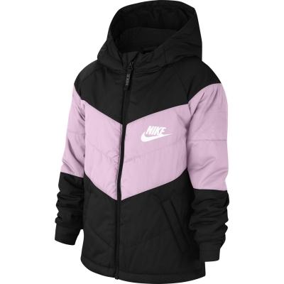 Jacheta Nike Sportswear Synthetic Fill pentru fetite negru roz alb