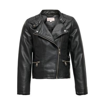 Jacheta Only piele ecologica biker pentru fete negru