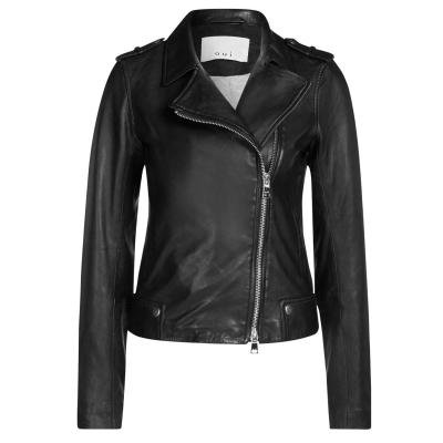 Jacheta Oui din piele negru