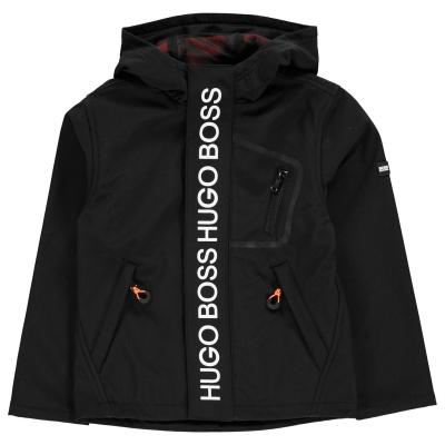 Jacheta parka Boss Logo cu fermoar negru 09b