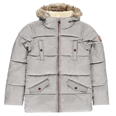 Jacheta parka Gelert Storm pentru fetite gri