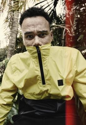 Jacheta Pulover guler inalt galben-negru Urban Classics