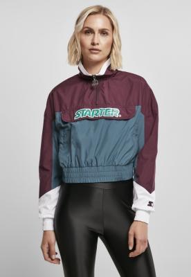 Jacheta Pulover Starter Colorblock pentru Femei mov-bleu