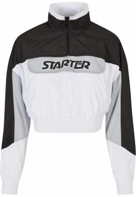 Jacheta Pulover Starter Colorblock pentru Femei negru-alb
