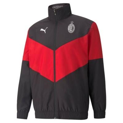 Jacheta Puma AC Milan Pre Match 2021 2022 pentru Barbati negru rosu