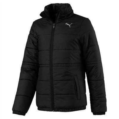Jacheta Puma cu captuseala pentru fetite negru