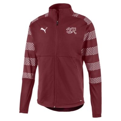 Jacheta Puma Elvetia Stadium 2020 pentru Barbati rosu alb