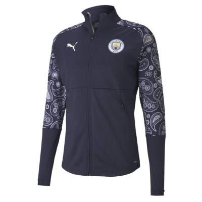 Jacheta Puma Manchester City Stadium 2020 2021 pentru Barbati albastru roz
