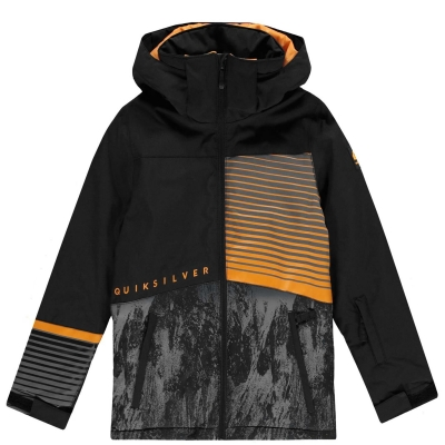 Jacheta Quiksilver Silvertip pentru baietei negru