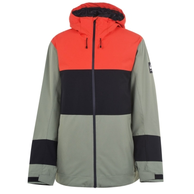 Jacheta Quiksilver Sycamore pentru Barbati portocaliu negru verde