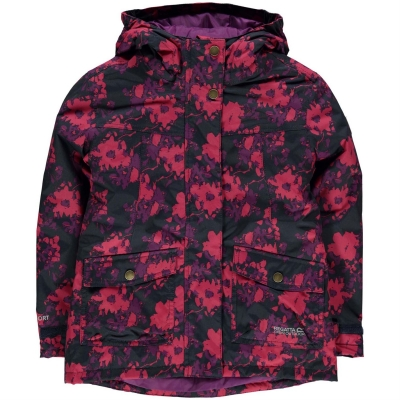 Jacheta Regatta Rosebank pentru fete bleumarin floral