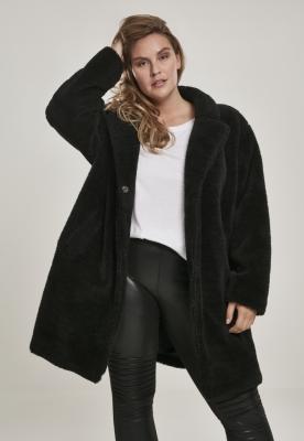 Jacheta sherpa supradimensionata pentru Femei negru Urban Classics