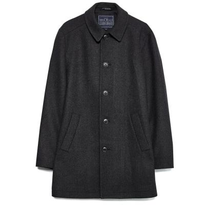Jack Wills Elmwood Wool Overcoat gri carbune