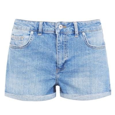 Pantaloni scurti blugi Jack Wills Lizzie albastru