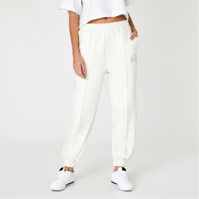 Pantaloni trening Jack Wills Relaxed Fit Embroidered Logo alb