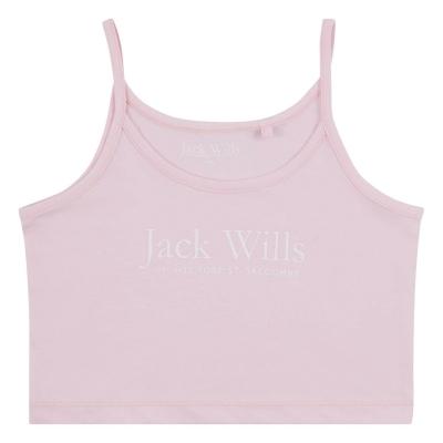 Jack Wills Script Logo Vest pentru fete pentru Copii roz lady
