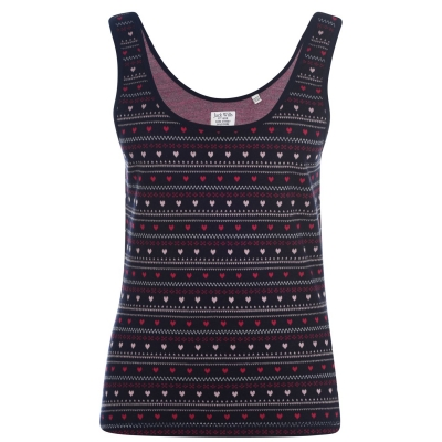 Jack Wills Wheelton Fairisle Heart Vest bleumarin
