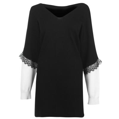 Rochie JDY Kimora tricot alb botto