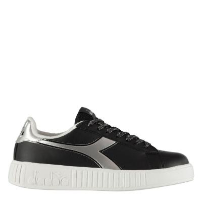Jocuri Adidasi sport Diadora Play Step negru argintiu