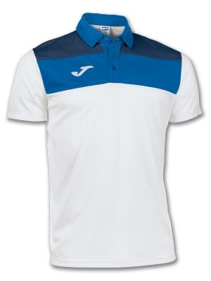 Joma Tricou Polo Crew alb-royal cu maneca scurta bleumarin