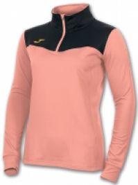 Bluze sport cu fermoar Joma Sudadera Free Salmon-negru pentru Femei