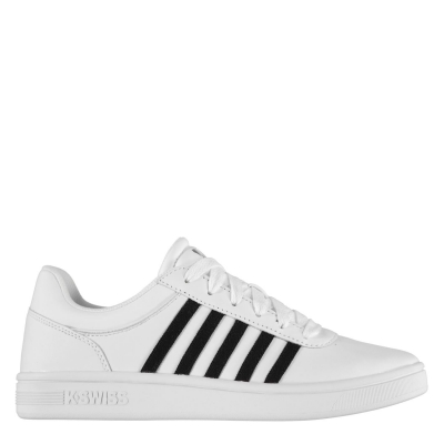 Adidasi sport K Swiss Court Cheswick pentru Barbati alb negru