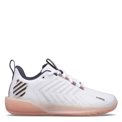 Adidasi de Tenis K Swiss Ultrashot 3 pentru Femei alb roz