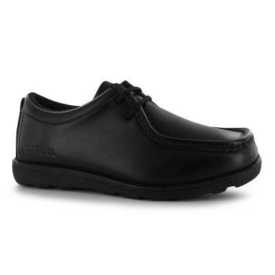 Pantofi piele naturala Kangol Waltham Lace Up Shoes pentru Copii negru