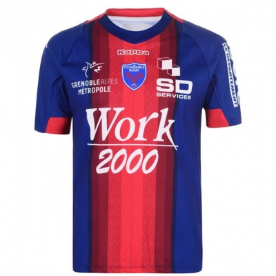 Kappa FC Grenoble RepSht albastru rosu inchis