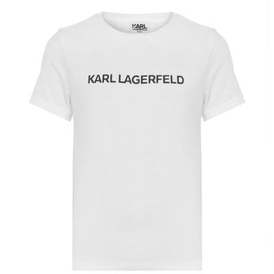Tricou KARL LAGERFELD Basic Print pentru baietei alb