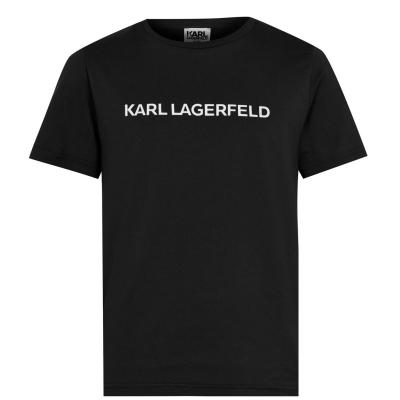 Tricou KARL LAGERFELD Basic Print pentru baietei negru