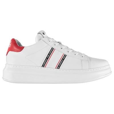 Adidasi sport Karl Lagerfeld Kapri cu dungi alb piele