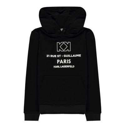 Hanorac Karl Lagerfeld Paris Logo OTH pentru baietei negru 09b