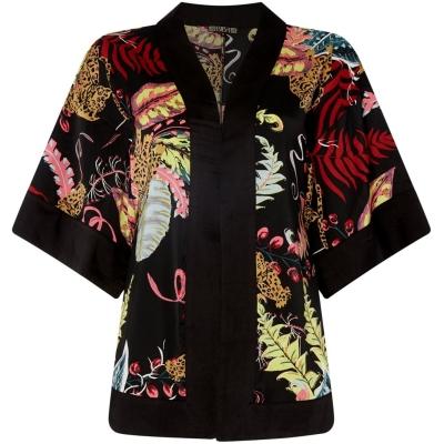 Kimono Biba Jungle multicolor rosu