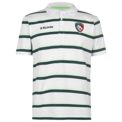 Tricouri Polo Kukri Leicester Tigers pentru Barbati alb verde