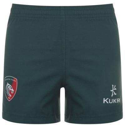 Pantaloni scurti Kukri Leicester Tigers pentru copii verde rosu alb