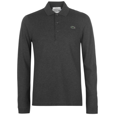 Lacoste Fit Polo inchis gri