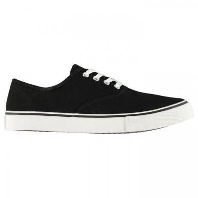 Lee Cooper Canvas Val Shoes pentru Barbati negru alb